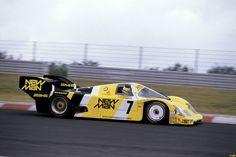Senna racing a Porsche in the Nürburgring 1000-km race, 1984