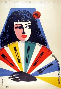 "The Story of Tosca"", di Carl Koch e Jean Renoir, 1941 poster polacco del 1953 designer: Jerzy Srokowski Illustration Photo, Graphic Design Illustration, Graphic Art, Graphic Design Brochure, Vintage Graphic Design, Poster Vintage, Vintage Travel Posters, Zine, Polish Movie Posters"