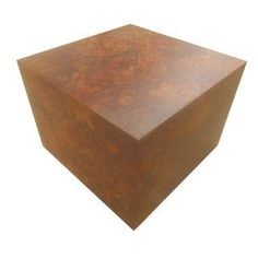 1970s Milo Burl Wood Laminate Cube Table -- LOVE BUT TOO BULKY?