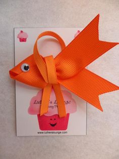 Goldfish Hairbow... I can also picture it being cute on a little kid's party invitation or something!