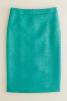 J.Crew No. 2 Pencil Skirt in Teal, $120, available at J.Crew, 726-728 Lincoln Road (near Meridian Avenue); 305-673-9806. #refinery29 http://www.refinery29.com/perfect-skirts-for-spring#slide-4