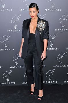 Kim Kardashian at the CR Fashion Book Issue No.5 launch party in Paris