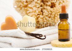 #vanilla essence and #spa accessories - stock photo