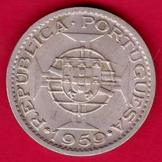 PORTUGUESE INDIA GOA - 1959 - ONE ESCUDO - RARE COIN P50