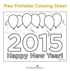 Kids will love to celebrate the new year with this fun Free Printable Happy New Year Coloring Sheet! LivingLocurto.com