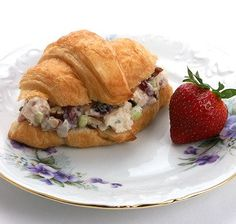 Cranberry Pecan Chicken Salad Croissants ~   An almost decadent, feel-good recipe for your tea or brunch. Be prepared for recipe requests. (Click on image to view this recipe and more)