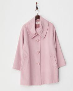 ピンク  シルクブレンド折り返し衿コート - ユーバイウンガロ ブランド通販(セール)なら 【グラッド】 2016年10月17日(月)まで