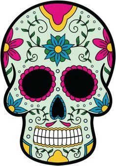 Calavera - Tete De Mort Mexicaine 9 - Autocollants têtes de mort mexicaines