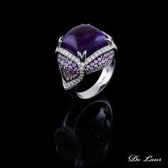Life is too short to wear boring jewelry.  #Ring #Amethyst #RoseSapphire…