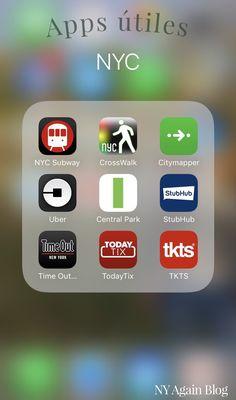 +15 aplicaciones indispensables a la hora de viajar a Nueva York.  www.nyagain.com