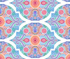 Ink and Symmetry in Rainbow Brights fabric by micklyn on Spoonflower - custom fabric