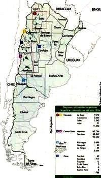 Regiones Vitivinicolas de la Republica Argentina