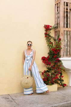 Wide leg jumpsuits are made for the warm weather of spring! Atlantic-Pacific in Cartagena