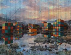 Globalization and the Environment Collide in Mary Iverson's Mixed Media Paintings of Shipping Containers  http://www.thisiscolossal.com/2015/07/mary-iverson-paintings/