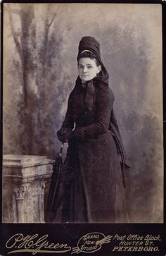 A young Canadian (the image was taken in St. Peterboro, Ontario) widow, albumen cabinet card, 1880s.