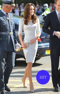 Simple, elegant, chic: Kate nails her 'dressing in the community' look in this Amanda Wakeley design as she visits The Royal Marsden Hospital in Sutton, Surrey.