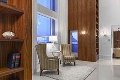 design luxuoso interior penthouse com tectos abobadados e decoração chique