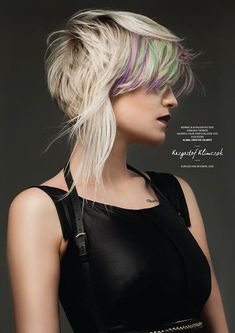 Idée Tendance Coupe & Coiffure Femme 2017/ 2018 : Goldwell Color Zoom 2015 Category: CREATIVE COLORIST Semi-finalist | Poland. Hai