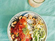 Ca Hoi Sot Ca Chua – Losos v rajčatové omáčce s koprem Halloumi, Meat, Chicken, Food, Essen, Meals, Yemek, Eten, Cubs