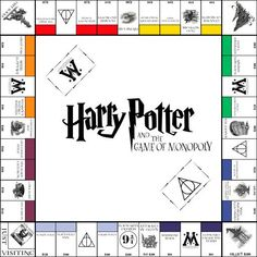 Harry Potter Monopoly board, Board or Dolls House size. A Lovely Handmade Harry Potter Harry Potter World, Monopoly Harry Potter, Magia Harry Potter, Harry Potter Thema, Harry Potter Games, Harry Potter Classroom, Theme Harry Potter, Monopoly Game, Harry Potter Birthday