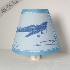 Vintage Airplane Nightlight Nursery Plane by pitterpatterpress.
