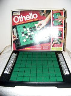Vintage Othello Board Game from 1975 Original Box by SusOriginals, $7.00