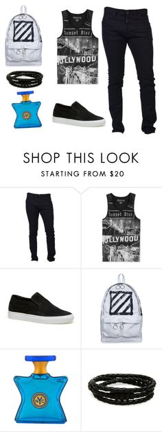"""2"" by adara-aijem on Polyvore featuring Dsquared2, Ring of Fire, Lacoste, Off-White, Bond No. 9, Porsche Design, men's fashion and menswear"