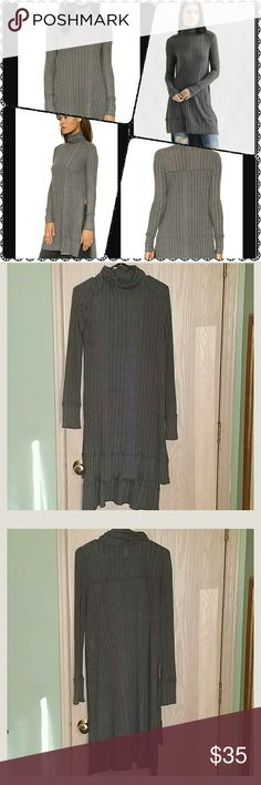 Free People Gray Variegated Rib Espresso Top Small Size Small  Excellent Pre-Owned Condition! No signs of wear   Comes from smoke free home Free People Tops Tunics