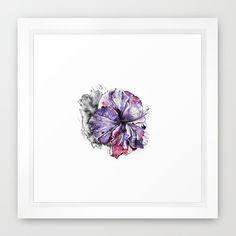 """Flower Framed Art Print - Mini 12""""x 12"""" - $39"""