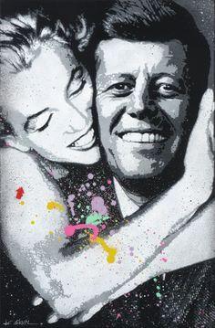 Marylin Monroe & John Kennedy by Jef Aérosol