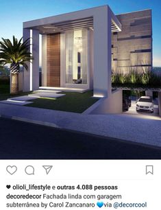 Our Top 10 Modern house designs – Modern Home Residential Architecture, Contemporary Architecture, Architecture Design, Contemporary Decor, Modern Exterior, Exterior Design, Modern Villa Design, House Elevation, Dream Home Design