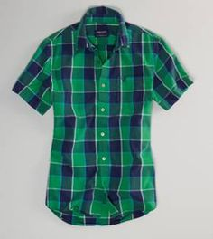 Yeah or Neah on short sleeve button downs? With any AE Slim Straight Jean? AE's Plaid Short Sleeve Button-Down Guy Shirts, Plaid Shirts, Men Shirt, Mens Fashion Shoes, Men's Fashion, Kinds Of Clothes, Clothes For Women, Mens Outfitters, Eagle Outfitters