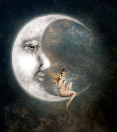 The man in the moon by jinxmim on deviantart moon луна, рису Sun Moon Stars, Sun And Stars, Action Painting, Cresent Moon, Moon Drawing, Moon Pictures, Paper Moon, Good Night Moon, Moon Magic