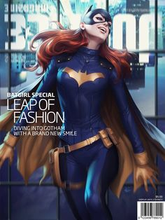 I'm still on the fence about this new Batgirl costume. Justice League Magazine - Batgirl by Artgerm | Stanley Lau *
