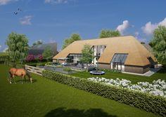 Woningen 02 De Es - Prinses op de Es Thatched House, Thatched Roof, Dutch House, Farmhouse Remodel, Project, Modular Homes, Future House, Modern Farmhouse, Bungalow