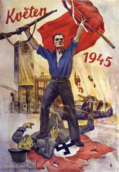Czechoslovakian poster commemorating win over Nazis in 1945