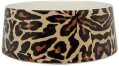 Nicole Miller Pet Ceramic Bowl, Leopard Paradise