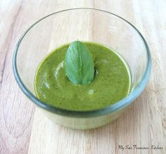 Easy Homemade Pesto Sauce - only takes 5 minutes!