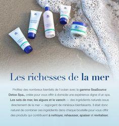 Utilisez tous les produits de la gamme SeaSource Detox Spa pour détoxifier, raviver et régénérer la peau. #Arbonne #vegan #Puresafebeneficial Detox Spa, Skin Detox, Arbonne Detox, Skin Care, Vegan, Sea Salt, The Body, Products, Lineup