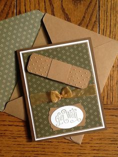 Stampin up get well band aid card