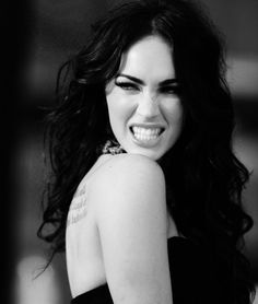 black and white, famous, female, girl, megan fox Megan Fox Hot, Megan Fox Style, Megan Denise Fox, Megan Fox Tumblr, Pretty People, Beautiful People, Celebs, Celebrities, Woman Crush