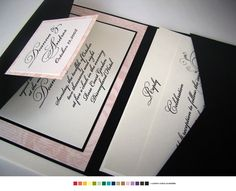 Black Ivory Pink Invitations Renaissance Writings Wedding Invitations Photos & Pictures - WeddingWire.com
