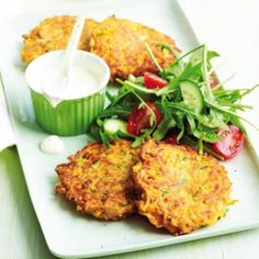 Sweet potato and zucchini fritters | Australian Healthy Food Guide
