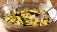 ReadySetEat - Sauteed Squash Medley - Recipes Just change the Parkay to Olive Oil and Pam to Olive Oil Spray!