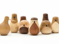 De drôles d'oiseaux en bois tourné | Design | Brainfood