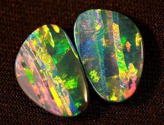 opal pair ❦ CHRYSTALS ❦ semi precious stones ❦