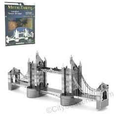 London's Tower Bridge Laser Cut Model