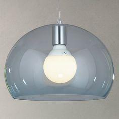 Buy Kartell Fly Small Ceiling Light, Sky Blue Online at johnlewis.com