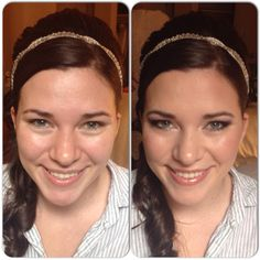 Before and after of bride, Teresa