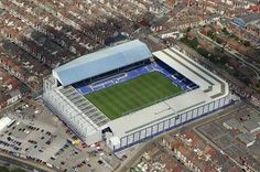Goodison Park Stadium home to Everton Football Club